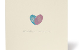"wedding invitation ""fingerprint"" design"