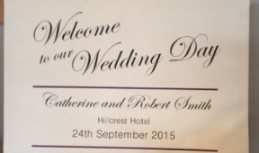 Wedding Welcome Sign on canvas, call for details