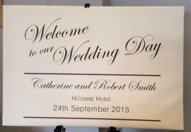 Wedding Welcome Sign on Canvas