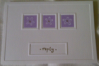 White and Lilac RSVP Cards