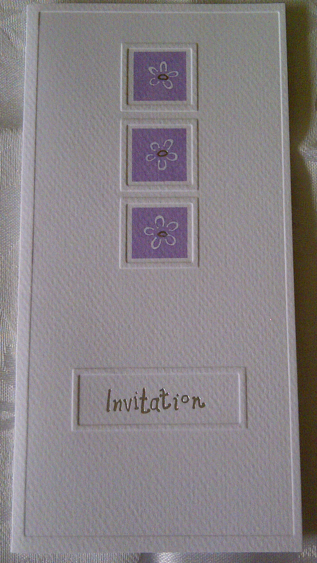 Lilac and White Wedding Invitations (SALE!) - CAS Wedding Stationery
